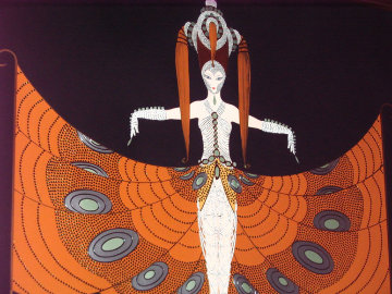 Hindu Princess 1987 30x40 Super Huge  Limited Edition Print -  Erte