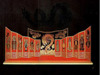 Opium and Mah Jong Suite 1985 Set of 2 - Huge 30x41 Limited Edition Print by  Erte - 1
