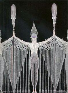Les Bijoux De Perles 1983 Limited Edition Print -  Erte