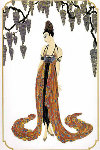 Feather Gown 1987 Limited Edition Print -  Erte