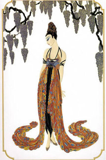 Feather Gown 1987 Limited Edition Print by  Erte