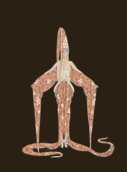 Starfish 1986 Limited Edition Print by  Erte
