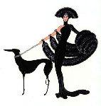 Symphony in Black 1980 Limited Edition Print -  Erte