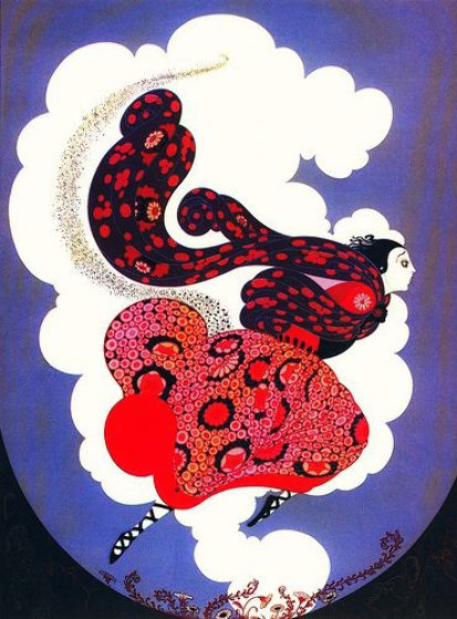 Pursuit of Flore 1985 Limited Edition Print by  Erte
