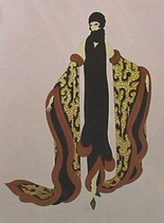 Fox Fur 1985 Limited Edition Print -  Erte