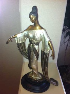 Negligee Bronze Sculpture AP 1984 Sculpture by  Erte