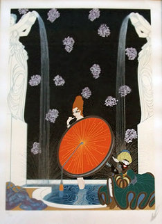 Bath of the Marquise 1980 Limited Edition Print by  Erte