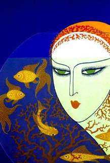 Fish Bowl AP 1977 Limited Edition Print by  Erte
