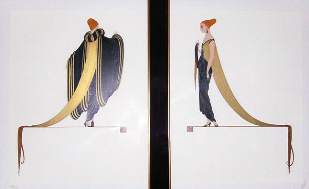 Ready for the Ball, Diptych 1982 Limited Edition Print by  Erte