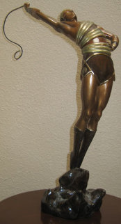Le Danseur Bronze Sculpture 1982 19 in Sculpture -  Erte