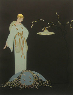 Moon Garden 1987 Limited Edition Print by  Erte