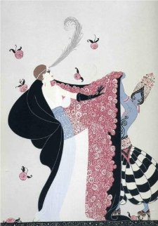 Flowered Cape 1981 Limited Edition Print by  Erte
