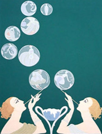 Bubbles 1981 Limited Edition Print by  Erte