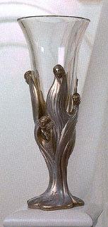 Visage De Femme Bronze and Crystal Glass Sculpture Sculpture by  Erte
