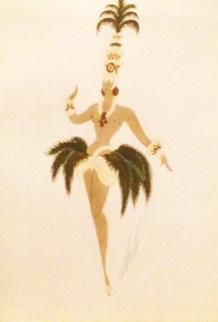 La Raphia De Madagascar 1952 Original Painting by  Erte