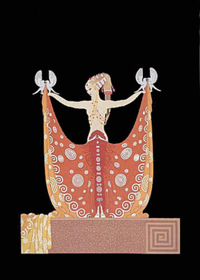 Love and Beauty Suite of 2 Limited Edition Print by  Erte