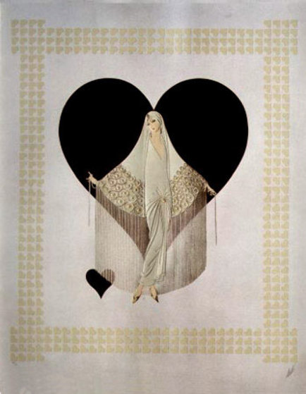 Fringe Gown 1985 Limited Edition Print by  Erte