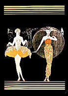 Morning Day/Evening Night Suite of 2  AP 1985 Limited Edition Print by  Erte - 1