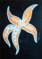 Starfish Lady 1936 28x20 Original Painting by  Erte - 0