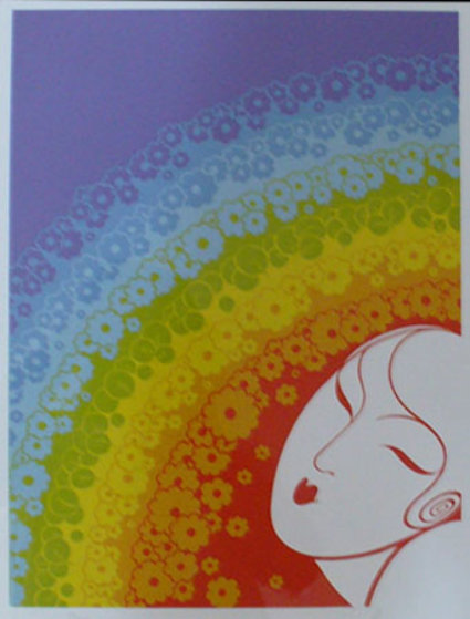 Rainbow in Blossom 1977 Limited Edition Print by  Erte
