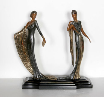 Duetto Bronze Sculpture 1989 Sculpture -  Erte