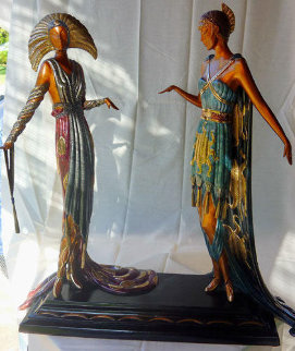 Two Vamps Bronze Sculpture 1990 19 in Sculpture by  Erte