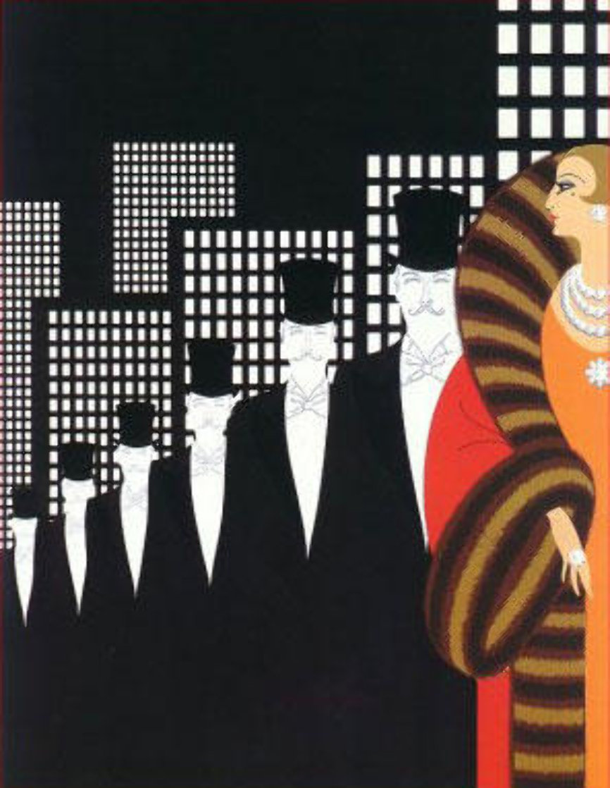 Top Hats AP 1975 Limited Edition Print by  Erte