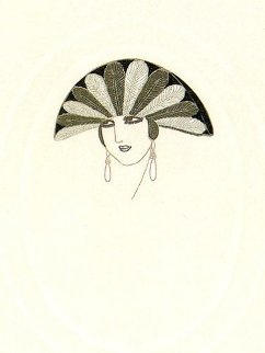 Feathers AP 1975 Limited Edition Print by  Erte