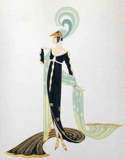 Directoire 1986 Limited Edition Print by  Erte