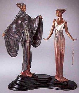 Dream Birds Bronze Sculpture 1988 17 in Sculpture -  Erte
