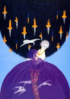 Freedom And Captivity 1985 Limited Edition Print by  Erte