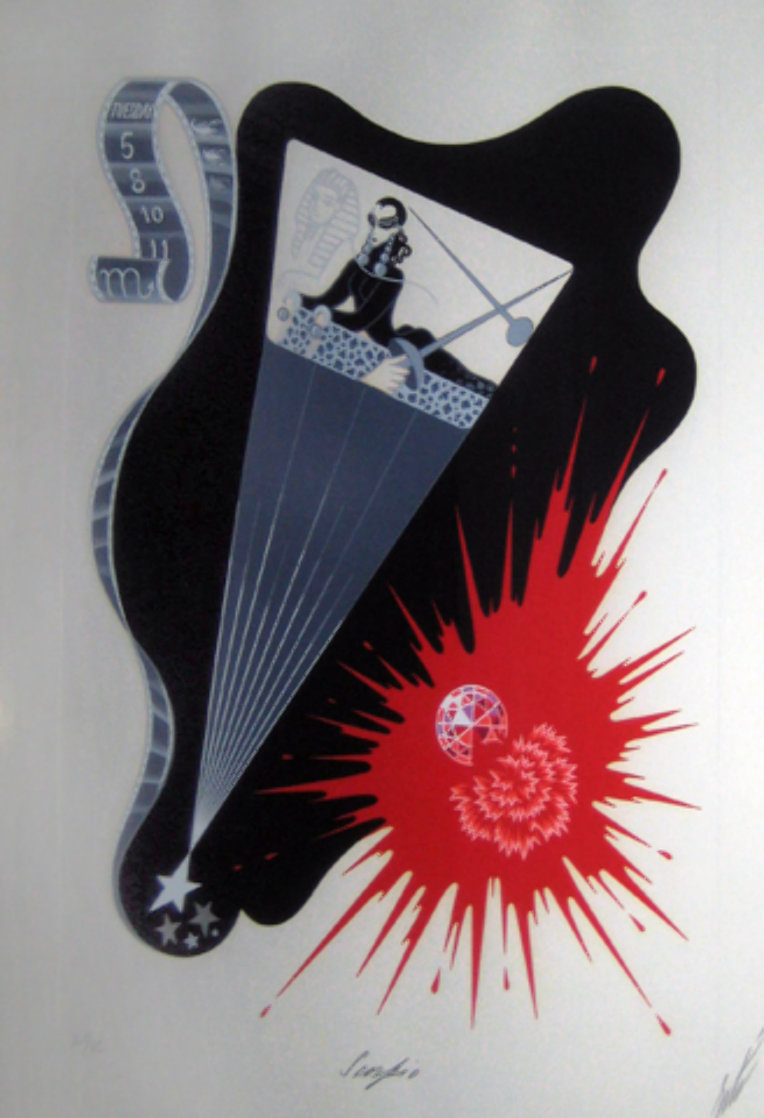 Zodiac Suite: Scorpio 1982 Limited Edition Print by  Erte
