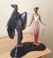 Dream Birds Bronze Sculpture 1988 18 in Sculpture -  Erte