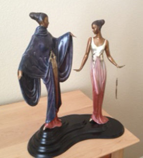 Dream Birds Bronze Sculpture 1988 18 in Sculpture -  Erte