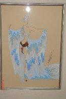 Water 1937 24x21 Original Painting by  Erte - 1