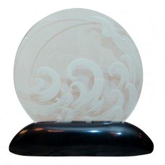 Wave Glass  Lumiere Sculpture -  Erte