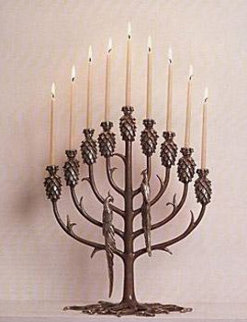 Tree of Life Bronze Candelabra Sculpture (Menorah) 1988 Sculpture -  Erte