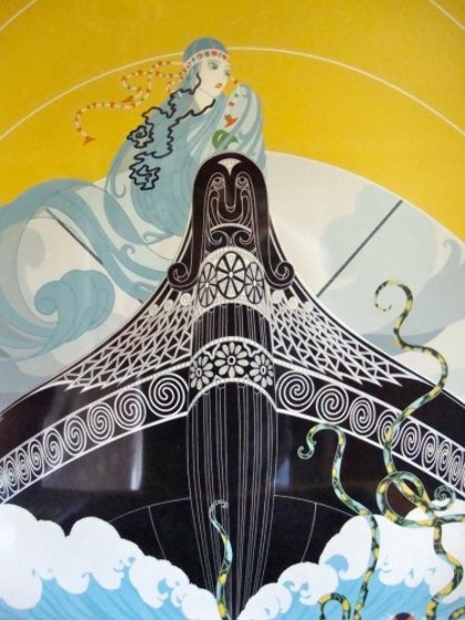 Surprises of the Sea 1983 Limited Edition Print by  Erte