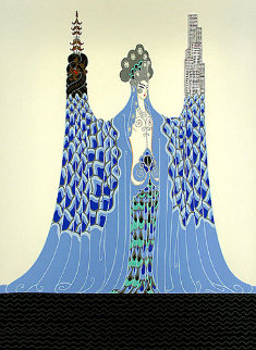 Ocean Pacifique 1986 Limited Edition Print by  Erte