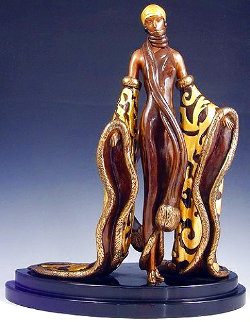 Mystic Bronze Sculpture 1988 16 inches Sculpture -  Erte