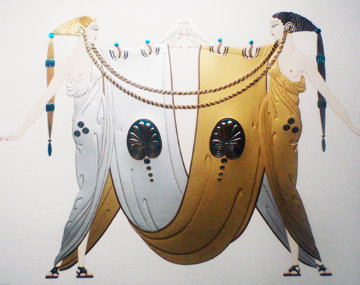 Sisters - Legends Suite of 2 1987 Limited Edition Print -  Erte