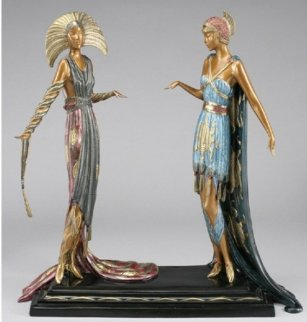 Two Vamps Bronze Sculpture 1990 19 in  Sculpture -  Erte