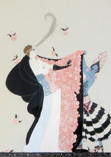Flowered Cape AP 1986 Limited Edition Print by  Erte