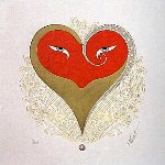 Heart II 1985 Limited Edition Print -  Erte