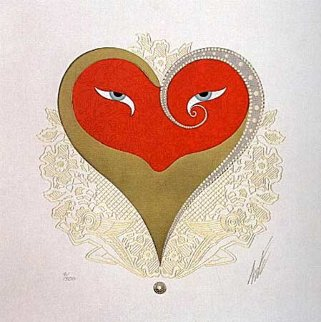Heart II 1985 Limited Edition Print by  Erte