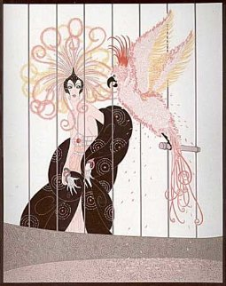 Bird Cage 1981 Limited Edition Print by  Erte