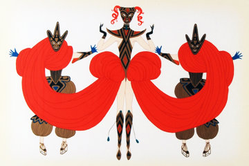 Carnival 1986 Limited Edition Print by  Erte