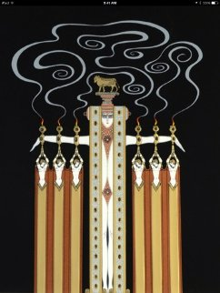 Golden Calf 1983 Limited Edition Print by  Erte