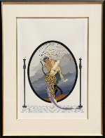 Woman And Satyr 1980 Limited Edition Print by  Erte - 1