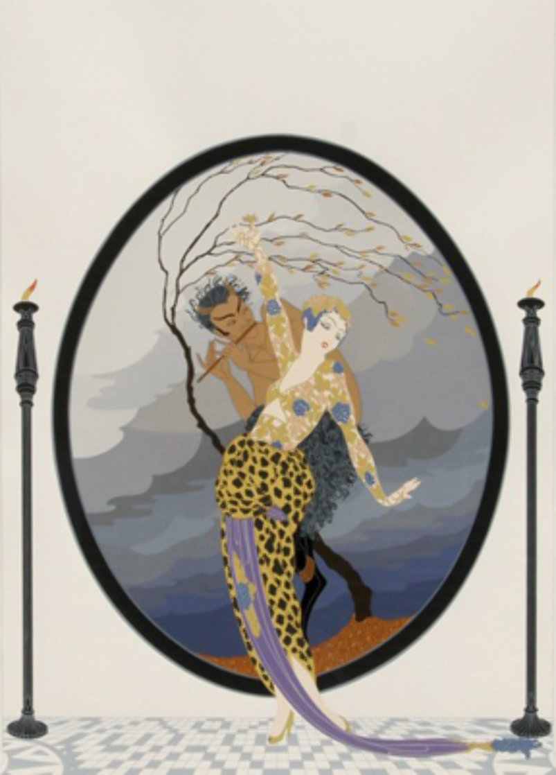 Woman And Satyr 1980 Limited Edition Print by  Erte